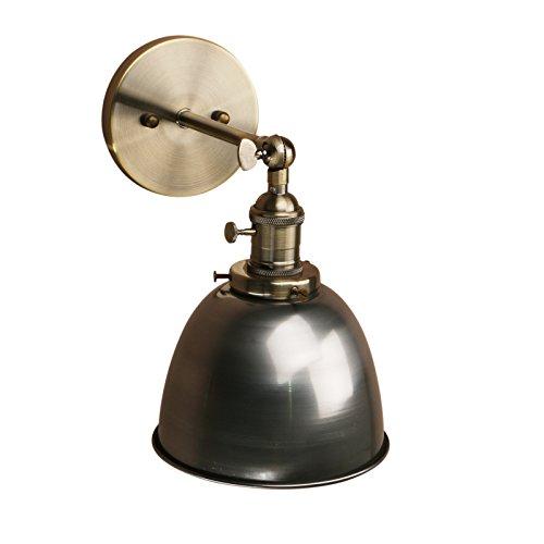 Pathson Antik Deko Design innen Wandbeleuchtung Wandleuchten Vintage Industrie Loft-Wandlampen Wandbeleuchtung Küchenwandleuchte (Klarlack)