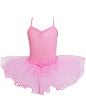 YiZYiF Mädchen Ballettanzug Ballettkleid Ballett Trikot Turnanzug Mädchen Kleider 98 104 110 116 122 128 140 152...