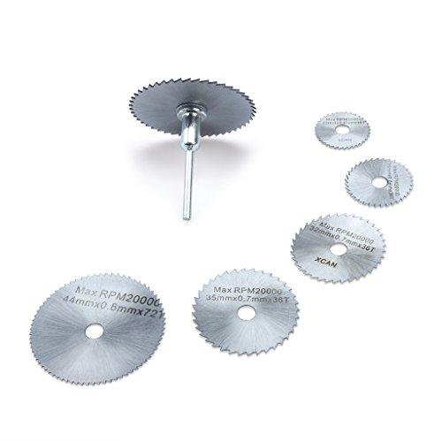 Edealing Outils rotatifs lames de scies circulaires disques de coupe Mandrin Cutoff Cutter Outils électriques multitool