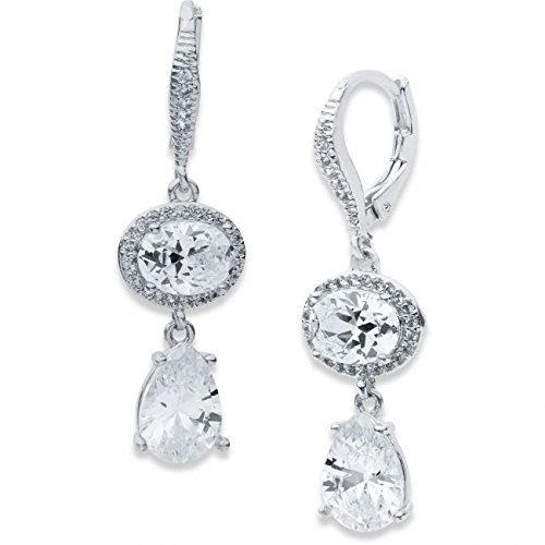 ladies-anne-klein-pendientes-chapados-en-plata-60446799-g03