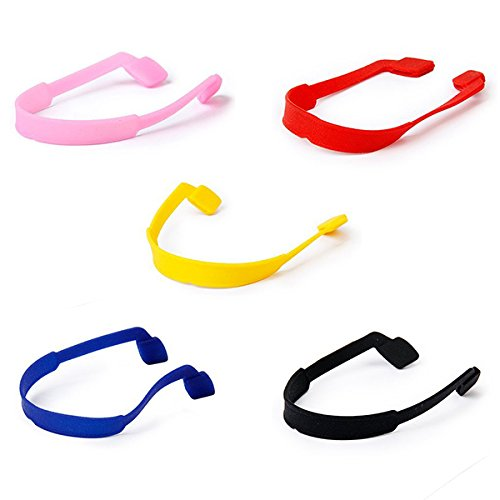 Tinksky Occhiali da vista occhiali da sole occhiali cinghia titolare cavo, 5 colori