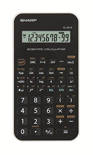 Sharp EL-501 X Wissenschaftlicher Schulrechner (mit D.A.L.-Eingabe, Batteriebetrieben) weiß/schwarz