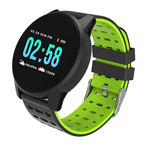 Mode Fitness Tracker | Wasserdicht Smartwatch mit Sauerstoff Blutdruck- und Herzfrequenzmonitor, Aktivitäts Schrittzähler| KY108 | Fitness Uhr für Android und IOS Smartphone | Damen Herren