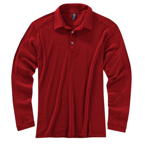 Ibex Outdoor Bekleidung Herren VT LONG SLEEVE POLO Dark Pomegranate