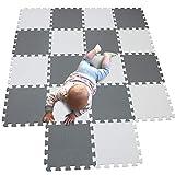 MQIAOHAM 18 pcs krabbeldecke wasserdicht Teppich Kinder Matte für Baby Puzzle Boden matten Play Gym puzzlematten spielmatten Schaum puzzlematte Kleinkind Schaumstoff...