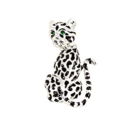 Broche de mujer leopardo...