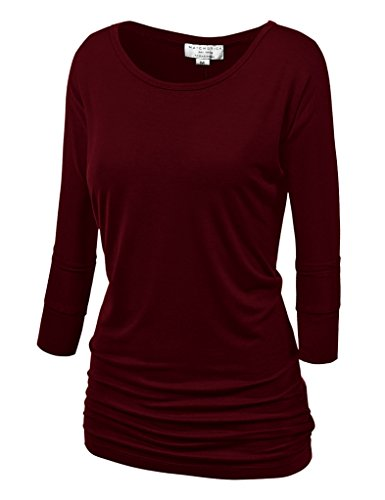 Match Donna T-Shirt Casual #140 140 Vino rosso(Wine red)