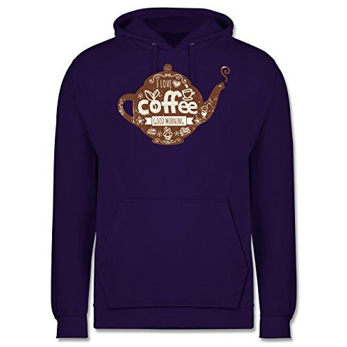 Statement Shirts - I Love Coffee Kanne - Männer Premium Kapuzenpullover / Hoodie Lila