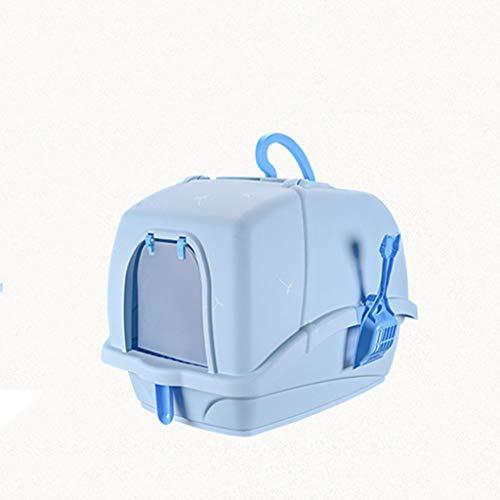 Katzentoilette geräumigen Innenraum, Katze Katzenklo Kein Geruch mit Abscheide-System, Cat Litter Tray Carry Funktions Covered leicht handhabbar WC für Ihre Katze zu reinigen,B -