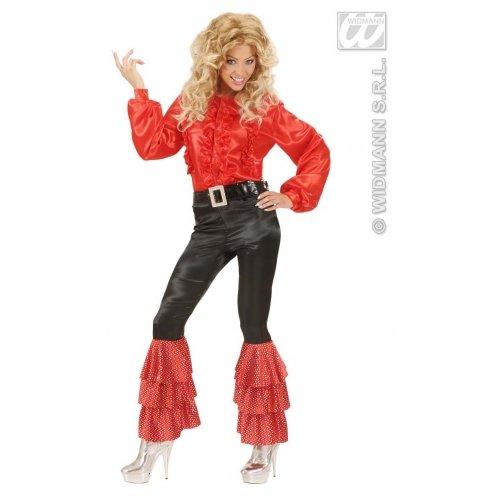 WIDMANN Pantalón de lentejuelas rojas negro adulto Carnaval