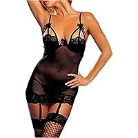 Hee Grand donna Sexy Lingerie indumenti da notte accappatoi satinato,