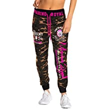 6268eacd023c9a Damen Jogginghose Traininghose Hose 100% Baumwolle Sweatpants Fitness  Training Marine Royal H.512