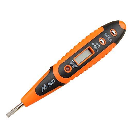 Noradtjcca Digital Test Bleistift Multifunktions AC DC 12-250 V Tester Elektrische LCD Display Spannungsprüfer Teststift für Elektriker