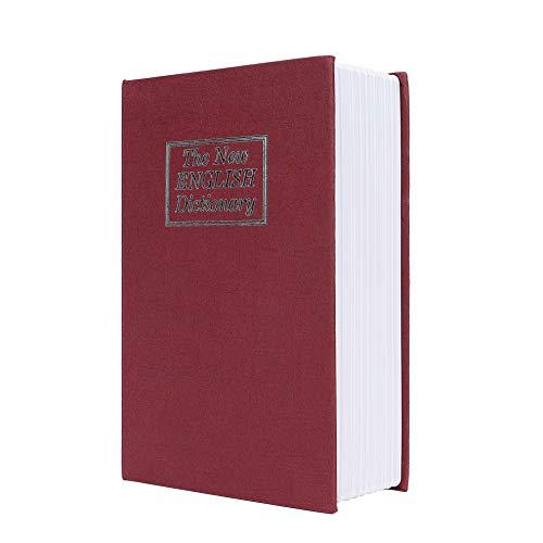 Caja de Seguridad Libro Estilo Diccionario Inglés Portátil Combinación de 3 Dígitos Código de Bloqueo...