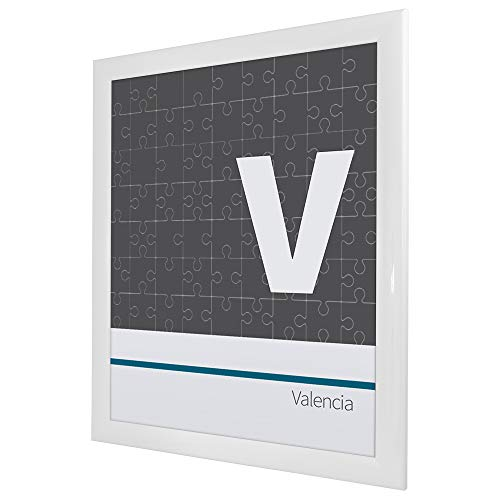 Bildershop-24 Cadre à puzzle / photo Valencia 75X98cm Blanc (ultra-brillant) 1500-2000 Pièces antireflet*