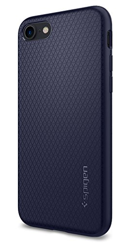 iPhone 7 Hülle, Spigen® [Liquid Armor] Soft Capsule [Midnight Blue] Luftpolster-Technologie Handyhülle - Soft Flex Premium-TPU Schutzhülle für iPhone 7 Case, iPhone 7 Cover - Midnight Blue (042CS21189)