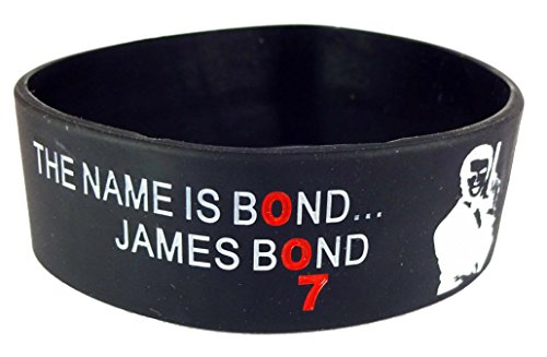 eshoppee james bond silicone wrist band bracelet for man and women (1 pcs)  available at amazon for Rs.109