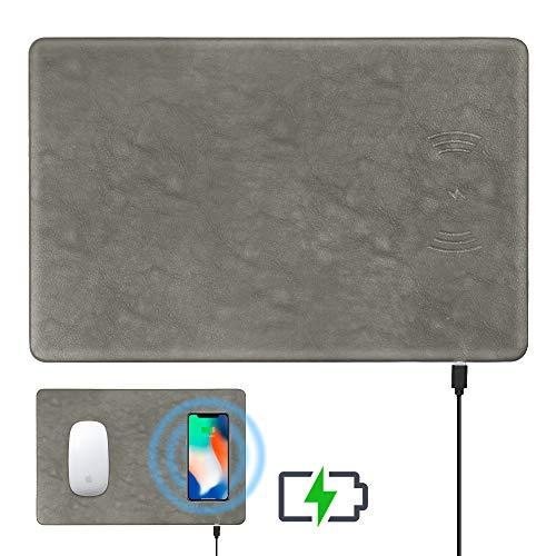 Dr. preparare mouse pad di ricarica wireless, per Samsung Galaxy Note 8/S8/S8Plus/S7/S7Edge/S6Edge/iPhone/8x Gray.