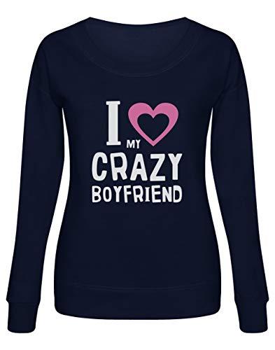 a692939da3 Green Turtle T-Shirts Couple St Valentin I Love My Crazy Boyfriend  Sweatshirt Femme Large