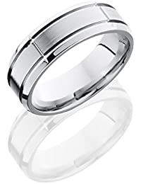 Cobalt Chrome, Enraved Wedding Band Satin Polished Accents (sz H to Z1)