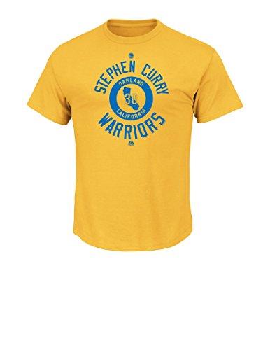 NBA Golden State Warriors Herren Majestic Leichtathletik Opfern, und Entschlossenheit Short Sleeve T-Shirt, Medium, Gold