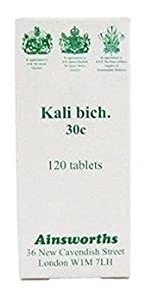 Ainsworths Kali Bich 30C Homoeopathic Remedy 120 Tablets