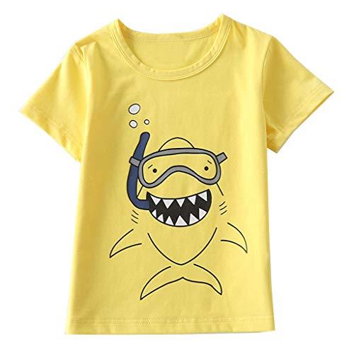 Jungen T Shirt Sommer, Oyedens Kinder Kurzarm T-Shirt Cartoon Dinosaurier Print T-Shirt Top Kleinkind KostüM