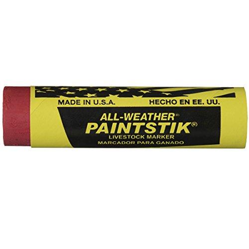 Allwetter Paintstik Vieh Marker, rot, 12