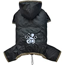 Doggy Dolly DR060 Hunderegenshirt, Größe: XS, 4 beinig schwarz