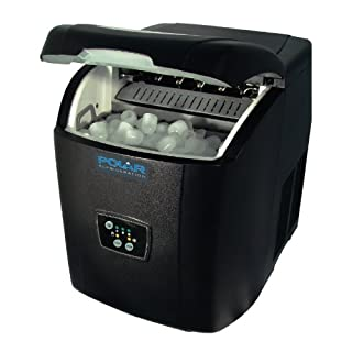 Polar Counter Top Ice Maker 10kg Output 380X305X380mm Black Manual Fill Machine