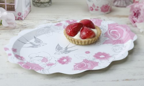 Ginger Ray Rose & Swallow Party Picnic Platters - Enchanted Rose Test