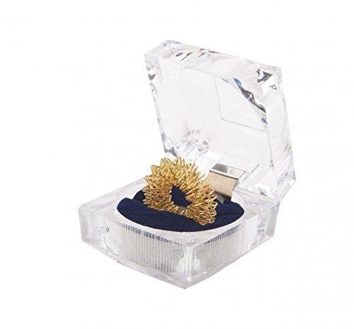 Massaggio anello, anulare, anello digitopressione, riflessologia plantare, oro nella scatola