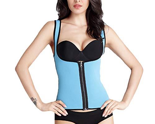 Donna seamless cerniera controllo shapewear aprire busto bodysuit body corsetti shaper blu 2xl