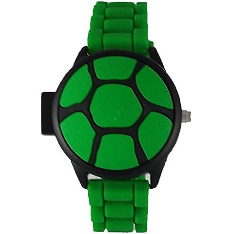 Nickelodeon infantil Teenage Mutant Ninja Turtle Popup Shell–Reloj digital (Verde)