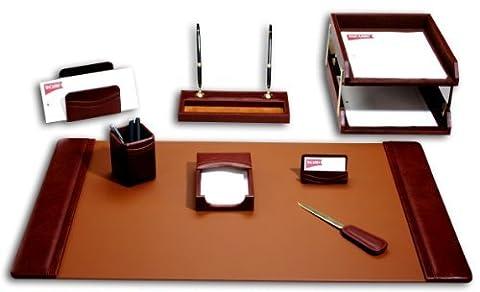 Dacasso Leather Desk Set, 10-Piece, Mocha by Dacasso
