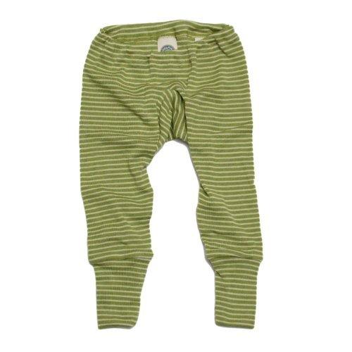 Cosilana Baby Unterhose lang, Gr��e 74/80, Farbe Gr�n geringelt