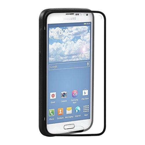 Bedeckt Knopf Vorne (kwmobile TPU Silikon Hülle für Samsung Galaxy S5 Mini - Full Body Protector Cover Komplett Schutzhülle Case in Schwarz Transparent)