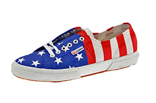 Superga Usa Flag Baskets Basses Neuf Chaussures . Rouge Blanc