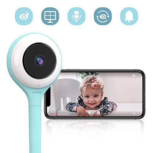 Lollipop camera, cámara para bebés, monitor para bebé, detección de llanto, multistreaming, visión...