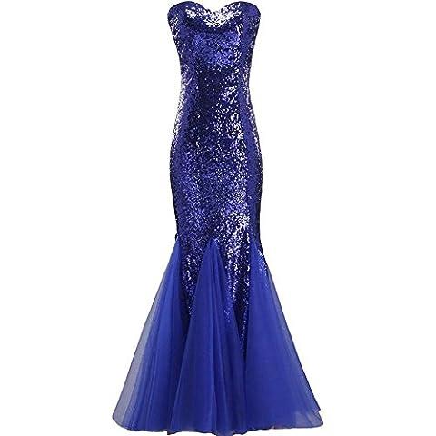 robe de fête de mariage pour femme robe de soirée nuptiale anniversaire prom glitter sequins robe v neck slim banquet fish tail sans manches zipper robes longues . 4 . us18