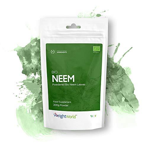 Bio Neem Pulver   200g Pulver für Herz & Immunsystem  Zur Unterstützung der Abwehrkräfte   Aus 100% Neemblatt Extrakt   Gesund für Zähne und Zahnfleisch   Entgiftende Wirkung   Vegetarisch & Vegan