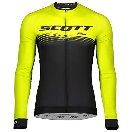 Scott RC Pro Fahrrad Trikot lang schwarz/gelb 2019: Größe: L (50/52) -