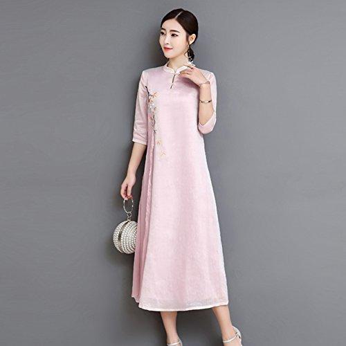 Kleid der Frau Frauen-Kleid-chinesisches traditionelles Cocktail-Hochzeitsfest-Kleid Cheongsam Qipao-Kleid-neues Cocktailparty-tägliches Tragen (Größe : S) - Neue Traditionellen Chinesischen Kleid