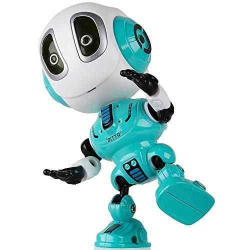 UPBASICN Spielzeugroboter für Jungen oder Mädchen - helle LED-Spielwaren wechselwirkender Wechsler-Roboter Spielwaren für Kinder (Blue) -