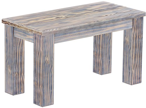 Brasilmöbel Sitzbank 'Rio Classico' 80 cm, Pinie Massivholz, Farbton Afrika Zebra