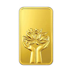 MMTC-PAMP 24k (999.9) Lotus 20 gm Yellow Gold Bar