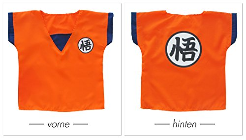 Imagen de disfraz para niños dragon ball son goku entrenamiento trajes cosplay traje trainingsanzug karneval m  alternativa