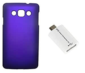 Toppings Hard Case Cover With OTG Smart Connection Kit For LG L60 - Purple