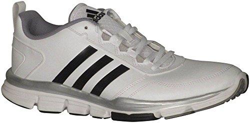 Adidas Speed â??â??Trainer 2.0 Sl Mens scarpa da corsa 10 Bianco-nero-argento Met White-Black-Silver Met