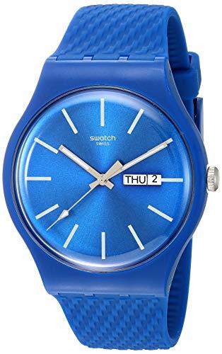 Swatch Orologio Analogueico Quarzo Uomo con Cinturino in Silicone SUON711